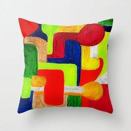 Multi Maze Throw Pillow