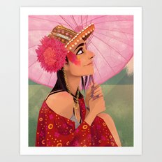 festival fashion Art Print