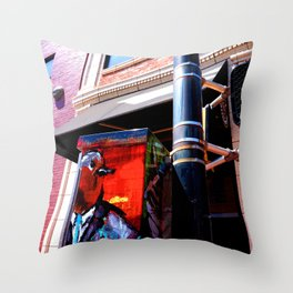 Kaldi's Painted Traffic Box Throw Pillow
