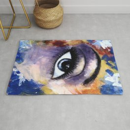 Title: Very Beautiful Eye painting Rug