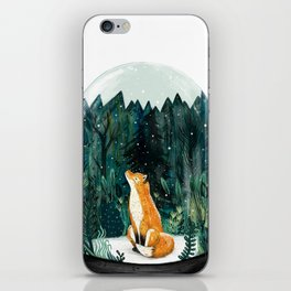 Snow Globe Fox iPhone Skin