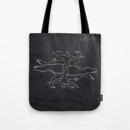 Greek Dinosaur Mythology Tote Bag