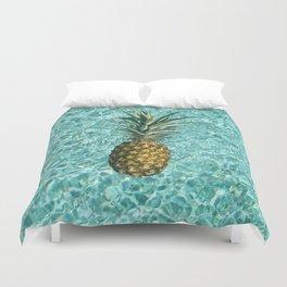 Pineapple Swimming Duvet Cover