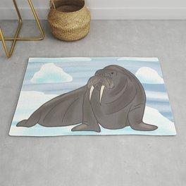 Walrus on Ice Rug