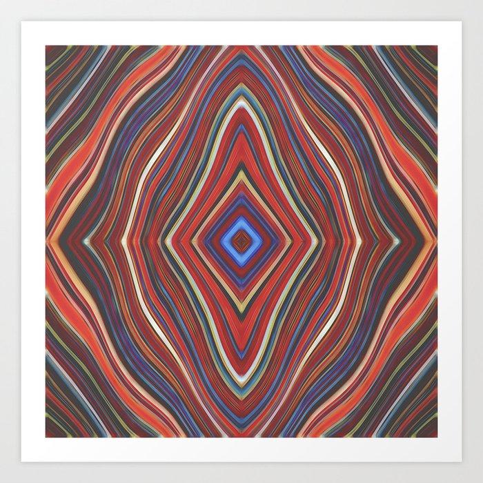 Wild Wavy Diamonds 32 Art Print
