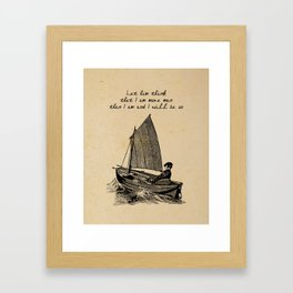 Ernest Hemingway - The Old Man and the Sea Framed Art Print