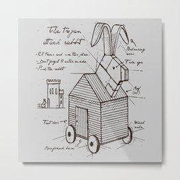 trojan rabbit Metal Print