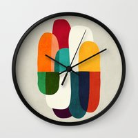 the cure Wall Clocks featuring The Cure For Sleep by Picomodi