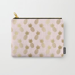 Pink & Gold Pineapples Carry-All Pouch