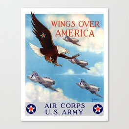 Wings Over America -- Air Corps WW2 Canvas Print