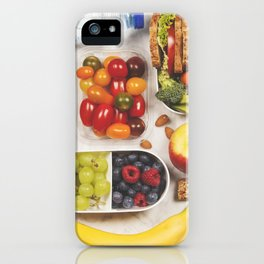 Healthy lunch box with sandwich and fresh vegetables iPhone Case