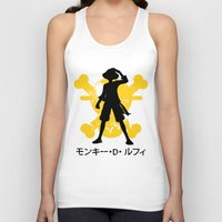 luffy Tank Tops featuring Monkey D. Luffy by KerzoArt