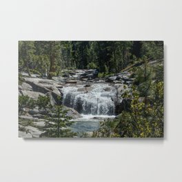 California Forest Waterfall Metal Print