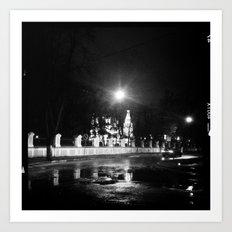 Russian Night Church  Art Print