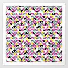Pop Triangles Art Print