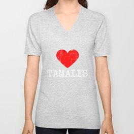 Heart tamales   Love tamales Unisex V-Neck