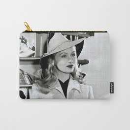 Veronica Lake, Circa 1942 Black and White Photograph Carry-All Pouch