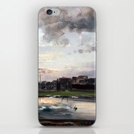 Johan Christian Dahl Elbe and Neustadt Dresden iPhone Skin