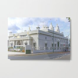 Shree Swaminarayan Mandir temple 2 Metal Print