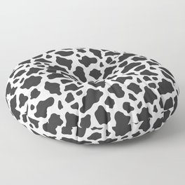 Black and White Cow Print Floor Pillow