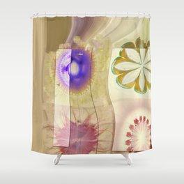 Gleeted Substance Flower  ID:16165-082307-33861 Shower Curtain