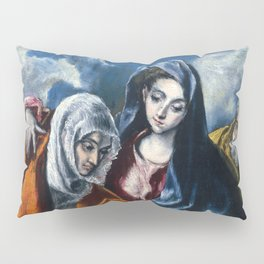"El Greco (Domenikos Theotokopoulos) ""The Holy Family with Saint Anne and the Infant John the Baptis"" Pillow Sham"