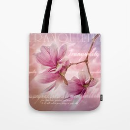 Tranquility - Magnolia Flower (Creative Collection) Tote Bag