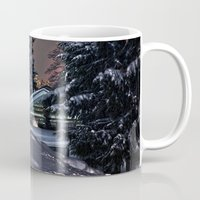 finland Mugs featuring Winter in Lapland Finland  by Guna Andersone & Mario Raats - G&M Studi