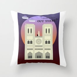 The Hunchback Throw Pillow