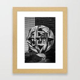 architecture monument Leonardo Da Vinci Framed Art Print