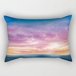 Rainbow Clouds Rectangular Pillow