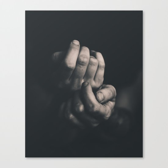 Hands, Black and white Canvas Print