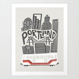 Portland Cityscape Art Print