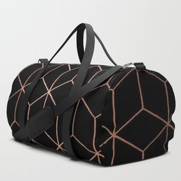Rose Gold/Copper and Black Geometric Duffle Bag