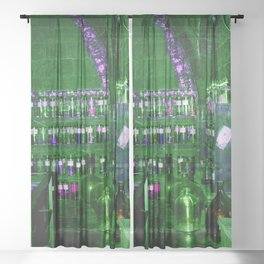 Potion Class - Green and Purple Hues Sheer Curtain