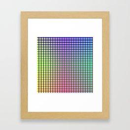 Gingham - Multicolored Framed Art Print