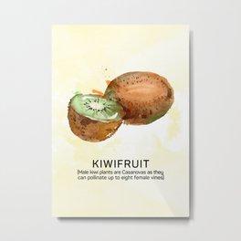 Fun with Fruits - Kiwis Metal Print