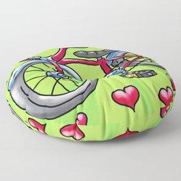 Bike Love Floor Pillow