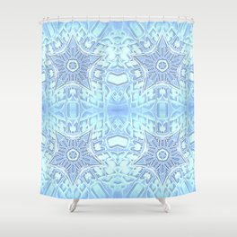 Frozen Blue Stars Shower Curtain