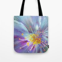 blossom Tote Bags featuring Blossom by Klara Acel