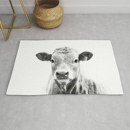 bw cow, southwest decor, farmhouse photography, rustic decor Rug