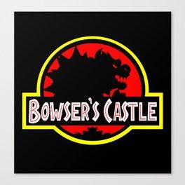 Bowser's Castle Canvas Print
