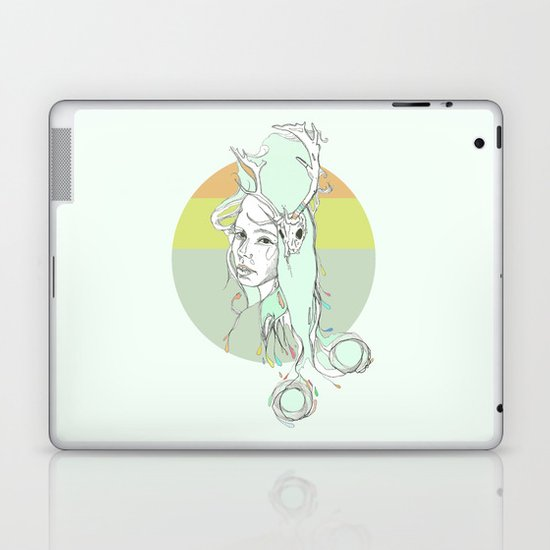 pale harlow & beryl blue Laptop & iPad Skin