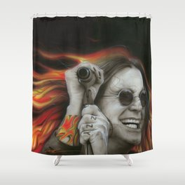'Ozzy's Fire' Shower Curtain