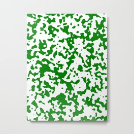 Spots - White and Green Metal Print
