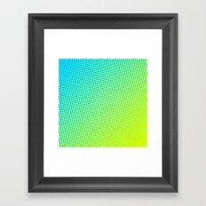 80's grade light blue Framed Art Print