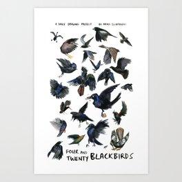 Four and Twenty Blackbirds Art Print