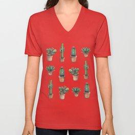 cactus pink, original version are BAck!! Unisex V-Neck