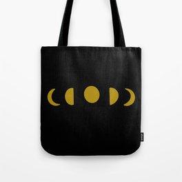 Moon Phase Dark Tote Bag