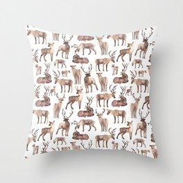 Christmas Reindeer.  Throw Pillow